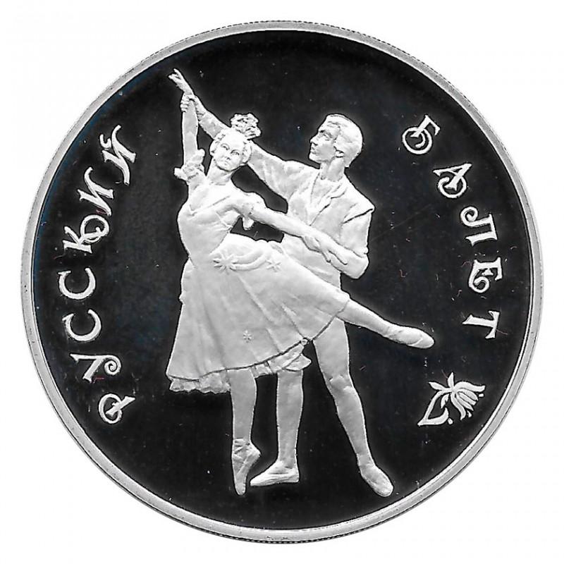 Moneda de Rusia 1993 3 Rublos Ballerina Bolschoi Ballet 1 oz Plata Proof PP