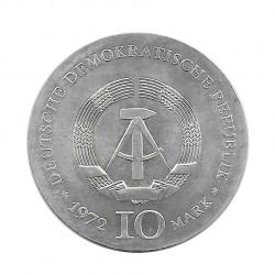 Moneda 10 Marcos Alemanes DDR Heinrich Heine Año 1972 2 | Numismática Online - Alotcoins