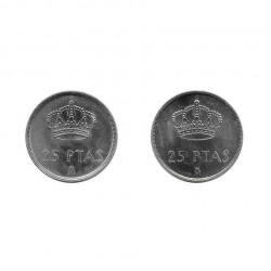 2 Coins 25 Pesetas Spain King Juan Carlos I Years 1982 and 1983 2 | Numismatics Online - Alotcoins