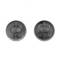 2 Münzen Spain 25 Peseten König Juan Carlos I. Jahr 1982 und 1983 2   Numismatik Online - Alotcoins