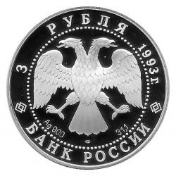 Münze Russland 1993 3 Rubel Ballerina Bolschoi Ballett 1 Unze Silber Proof PP