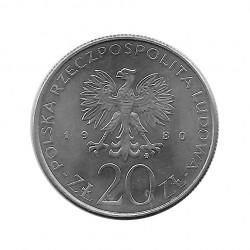 Moneda 20 Zlotys Polonia Daru Pomorza Año 1980 2 | Numismática Online - Alotcoins