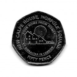 Coin 50 Pence Gibraltar New Calpe House Year 2018 | Numismatics Online - Alotcoins