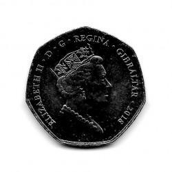 Moneda 50 Peniques Gibraltar Nueva Casa Calpe Año 2018 2 | Numismática Española - Alotcoins
