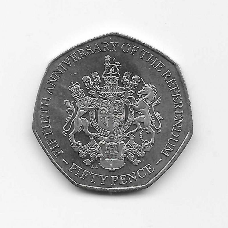 Coin 50 Pence Gibraltar Referendum Year 2017   Numismatics Online - Alotcoins