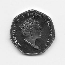 Moneda 50 Peniques Gibraltar Referéndum Año 2017 2 | Numismática Española - Alotcoins