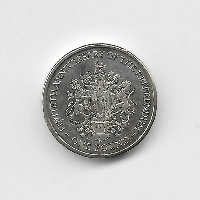 Coin 1 Pound Gibraltar Referendum Year 2017 | Numismatics Online - Alotcoins