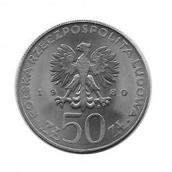 Moneda 50 Zlotys Polonia Bolesław I Chrobry Año 1980 2 | Numismática Española - Alotcoins