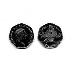 Moneda 50 Peniques Navidad Gibraltar Father Año 2019 3 | Numismática Española - Alotcoins