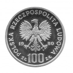 Moneda 100 Zlotys Polonia Daru Pomorza PROBA Año 1980 2 | Numismática Online - Alotcoins
