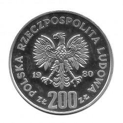 Moneda 200 Zlotys Polonia Kazimierz I Restaurador Año 1980 2 | Numismática Online - Alotcoins