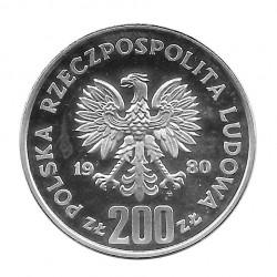 Coin 200 Złotych Poland Bolesław I Chrobry Year 1980 PROBA 2 | Numismatics Online - Alotcoins