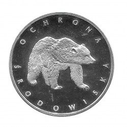 Coin 100 Zloty Poland Bear Year 1983 | Numismatics Online - Alotcoins