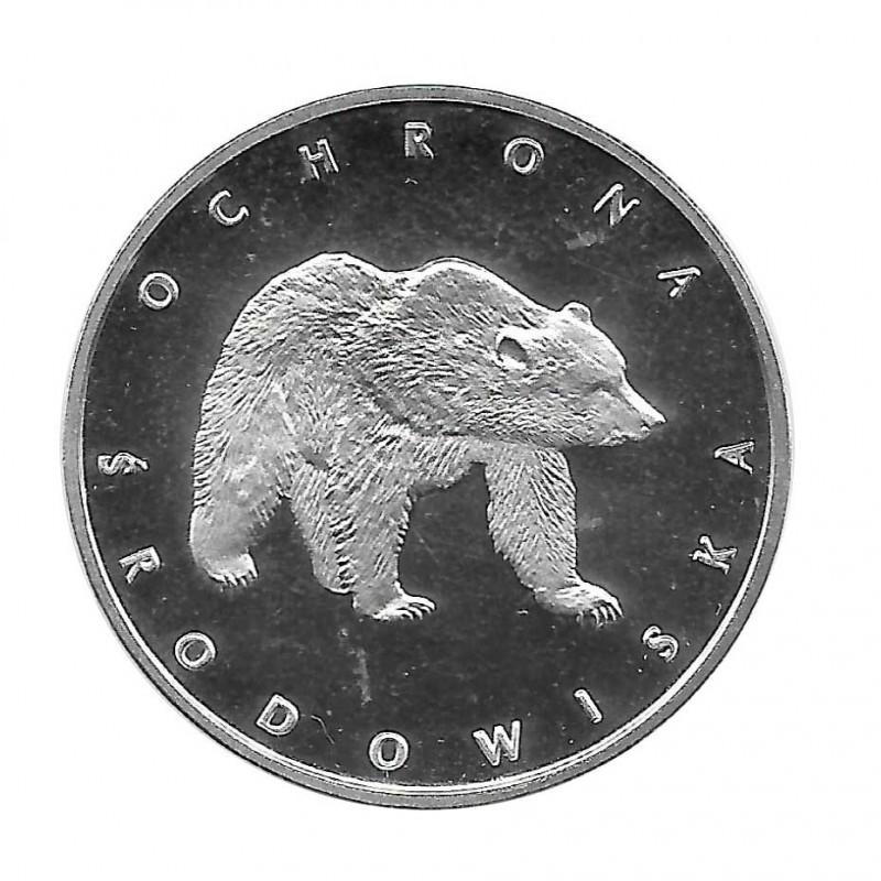 Moneda 100 Zlotys Polonia Oso Año 1983 | Numismática Online - Alotcoins