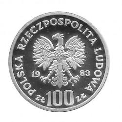 Moneda 100 Zlotys Polonia Oso Año 1983 2 | Numismática Online - Alotcoins