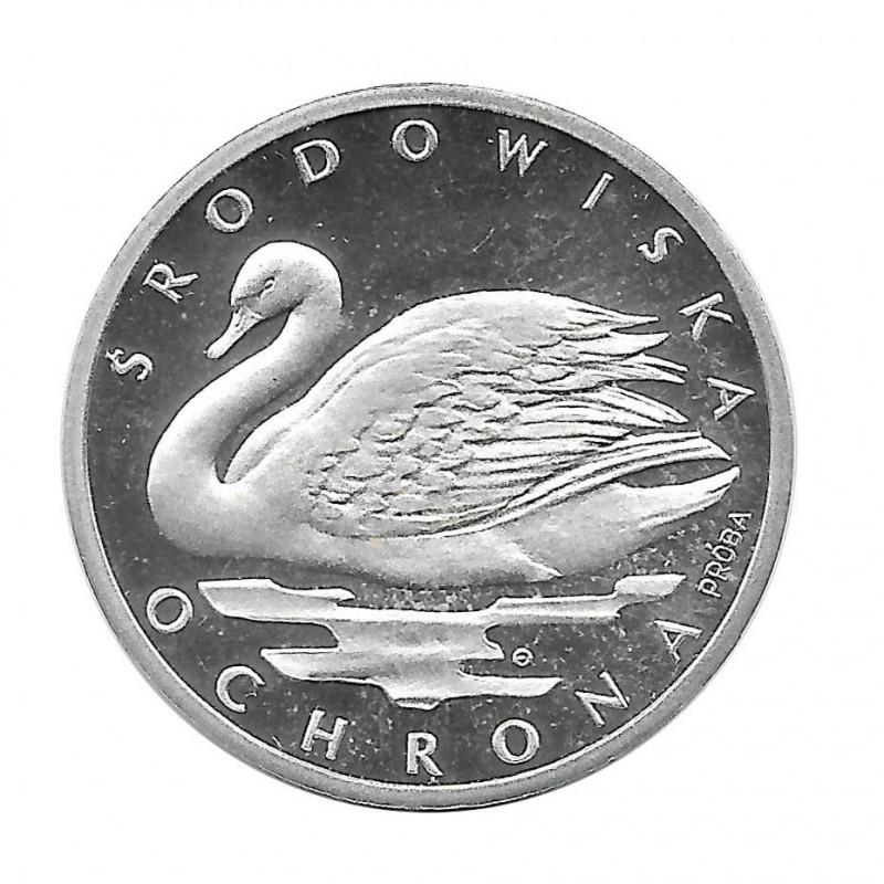 Silbermünze 1.000 Złote Polen Höckerschwan PROBA Jahr 1984   Numismatik Online - Alotcoins