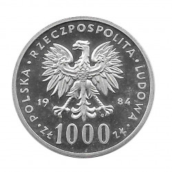 Silbermünze 1.000 Złote Polen Höckerschwan PROBA Jahr 1984 2   Numismatik Online - Alotcoins