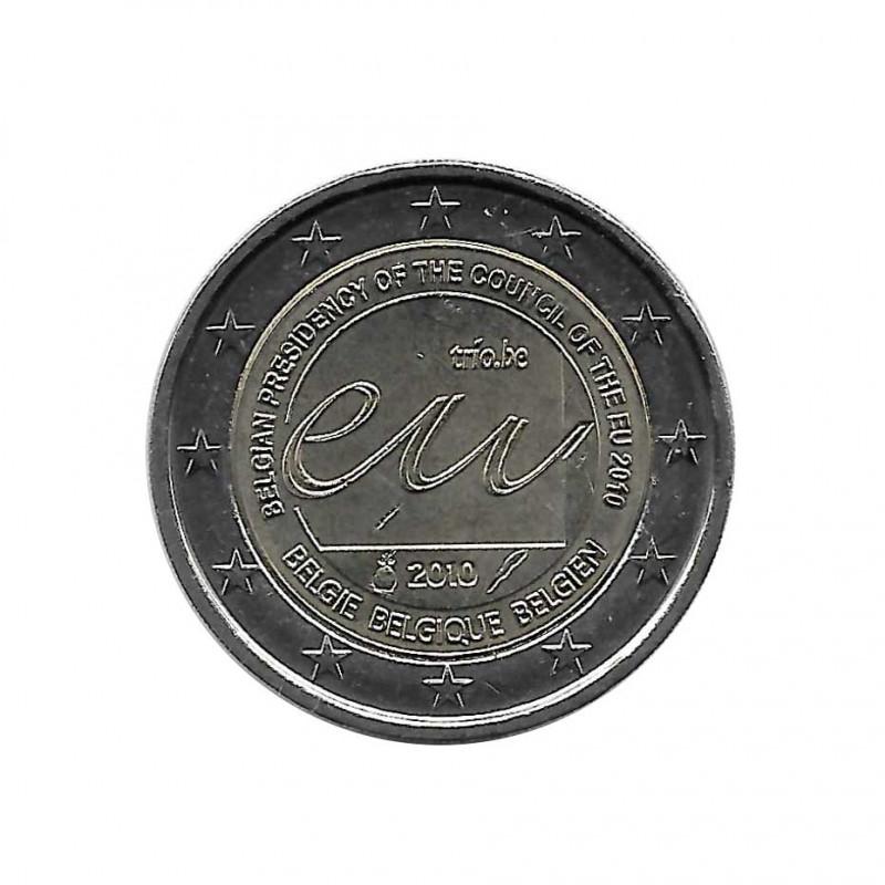 Moneda 2 Euros Conmemorativa Bélgica Presidencia Belga UE Año 2010 | Numismática Online - Alotcoins