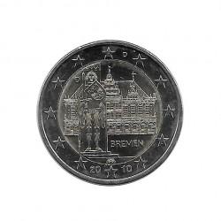 Gedenkmünze 2 Euro Deutschland Bundesländer Bremen Jahr 2010 Buchstabe D | Numismatik Online - Alotcoins