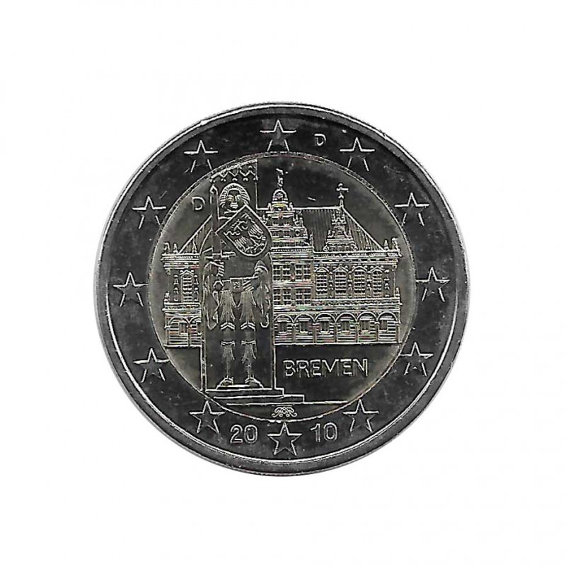 Commemorative Coin 2 Euros Germany State Bremen Year 2010 Letter D | Numismatics Online - Alotcoins