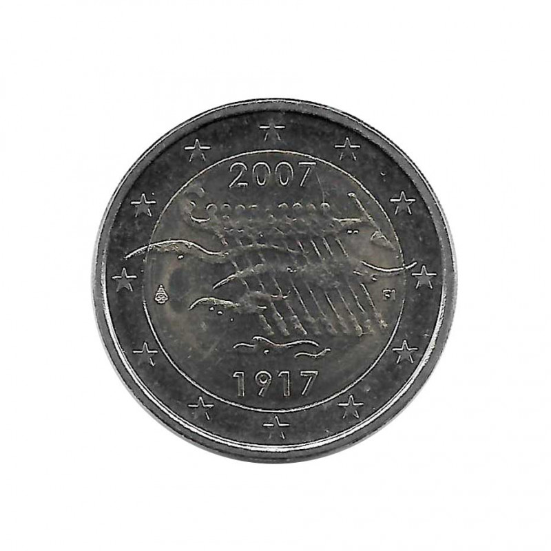 Coin 2 Euro Finland 90 Years of Independence Year 2007 | Numismatics Shop - Alotcoins