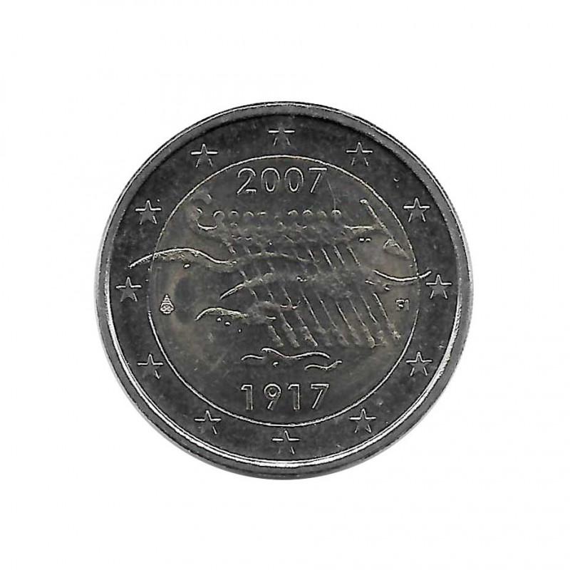 Münze 2 Euro Finnland 90 Jahre Unabhängigkeit Jahr 2007   Numismatik Store - Alotcoins
