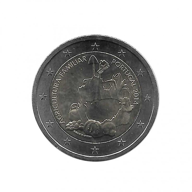 Moneda 2 Euros Conmemorativa Portugal Agricultura Familiar Año 2014 | Numismática Online - Alotcoins