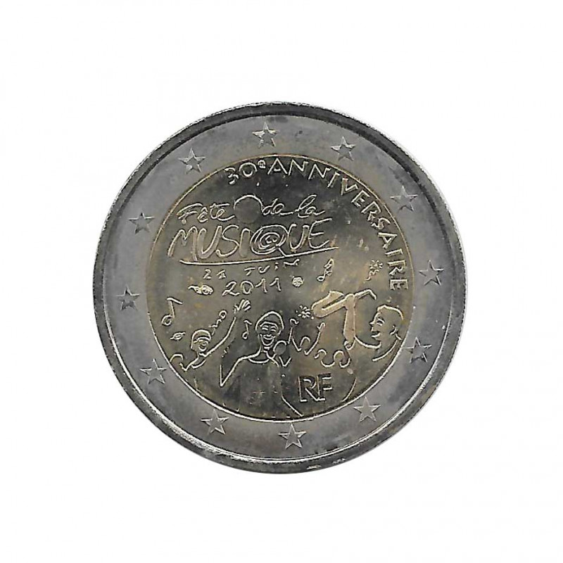 Commemorative Coin 2 Euros France Music Day Year 2011 | Numismatics Store - Alotcoins