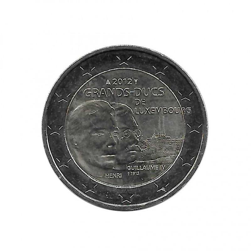 Gedenkmünze 2 Euro Luxemburg Tod Wilhelms IV Jahr 2012 | Numismatik Store - Alotcoins