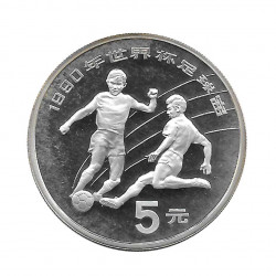Silver Coin 5 Yuan China World Cup Italy 1990 Year 1989 | Numismatic Shop - Alotcoins
