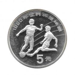 Silver Coin 5 Yuan China World Cup Italy 1990 Year 1989 | Numismatic Shop - Alotcoins