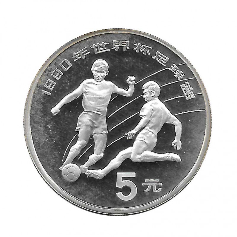 Moneda 5 Yuan China Mundial Italia 1990 Año 1989 | Tienda Numismática - Alotcoins