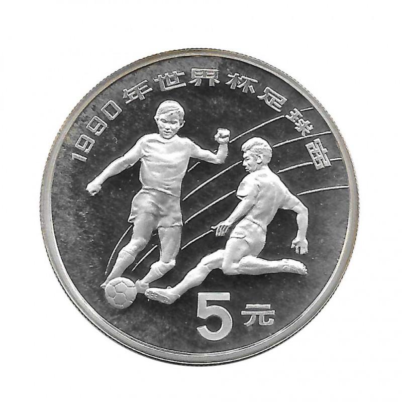 Münze 5 Yuan China Italien Weltmeisterschaft 1990 Jahr 1989 | Numismatik Store - Alotcoins