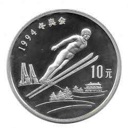 Moneda 10 Yuan China Salto Ski Año 1992 | Tienda Numismática - Alotcoins