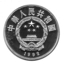 Silbermünze 10 Yuan China Skispringen Jahr 1992 2 | Numismatik Store - Alotcoins