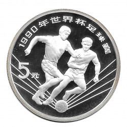 Silver Coin 5 Yuan China World Cup Italy 1990 Year 1990 | Numismatic Shop - Alotcoins