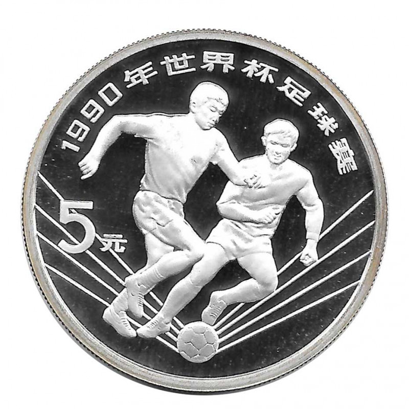 Silbermünze 5 Yuan China Italien Weltmeisterschaft 1990 Jahr 1990 | Numismatik Store - Alotcoins