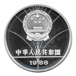 Silbermünze 5 Yuan China Fechten Seoul Jahr 1988 | Numismatik Shop - Alotcoins