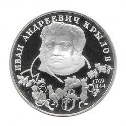 Moneda 2 Rublos Rusia Escritor Krylov Año 1994 | Numismática Online - Alotcoins