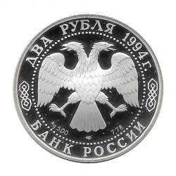 Moneda 2 Rublos Rusia Escritor Krylov Año 1994 | Tienda Numismática - Alotcoins