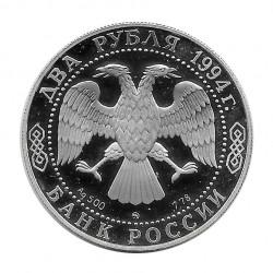 Silbermünze 2 Rubel Russland Schriftsteller Gógol Jahr 1994 | Numismatik Shop - Alotcoins