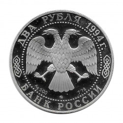 Silver Coin 2 Rubles Russia Gógol Writer Year 1994 Proof | Collectibles - Alotcoins