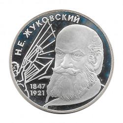 Silbermünze 2 Rubel Russland Mechaniker Schukowski Jahr 1997 | Numismatik Store - Alotcoins