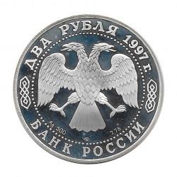 Moneda Plata 2 Rublos Rusia Mecánico Zhukovski Año 1997 | Tienda Numismática - Alotcoins