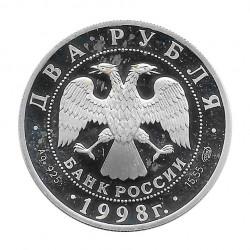Moneda Plata 2 Rublos Rusia  Stanislavski Gorky Año 1998 | Tienda Numismática - Alotcoins