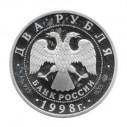 Silver Coin 2 Rubles Russia Stanislavski Gorky Year 1998 | Numismatics Store - Alotcoins