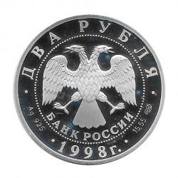 Moneda Plata 2 Rublos Rusia Aniversario Vasnetsov Año 1998 | Tienda Numismática - Alotcoins