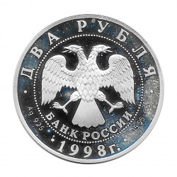Moneda Plata 2 Rublos Rusia Aniversario Stanislavski Año 1998 | Tienda Numismática - Alotcoins