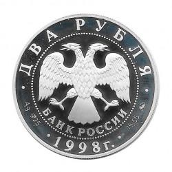 Moneda Plata 2 Rublos Rusia Centenario Serguéi Año 1998 | Tienda Numismática - Alotcoins