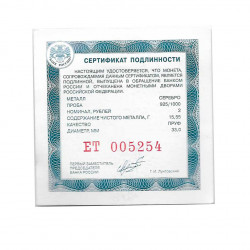 Silver Coin 2 Rubles Russia Richter Pianist Year 2015 Certificate | Numismatics Shop - Alotcoins